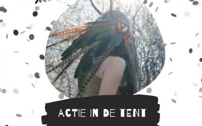 Actie in de tent