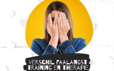 Het verschil tussen faalangst training en therapie